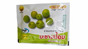 6 Packets of Ma-Kham-Pom, Cough Lozenges by Thongtong Osoth. Relief for cough and expectorant. (10 Lozenges/ packet)