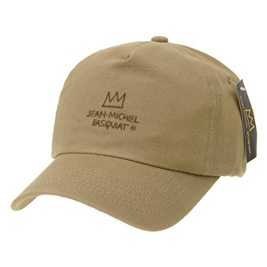 WITHMOONS Baseball Cap Jean-Michel Basquiat Crown Simple Hat CR1763 (Beige) 7c810d1baedc