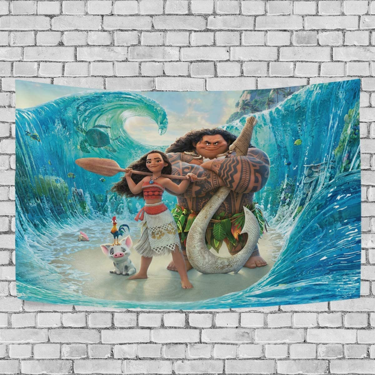 TRE ONE Animated Film Moana Tapestry Wall Hanging Decoration for Apartment Home Art Wall Tapestry for Bedroom Living Room Dorm Fashion 90 x 60 inches
