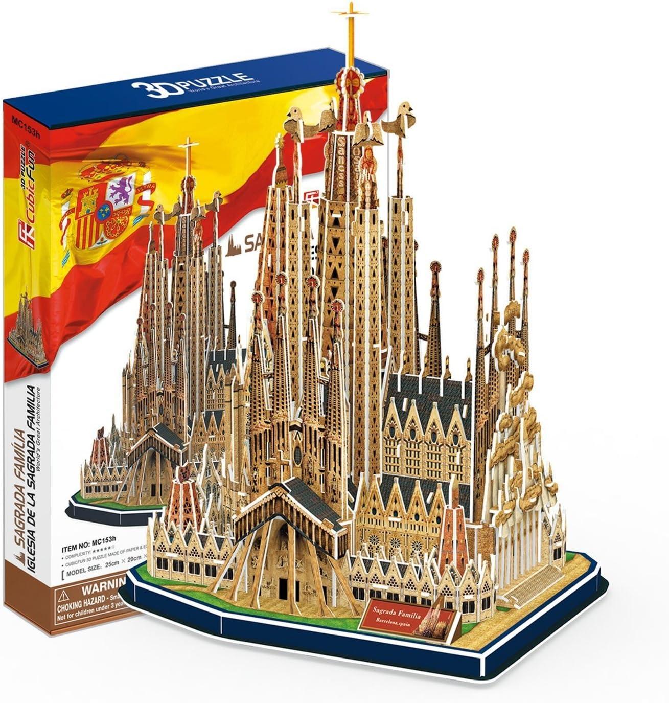 Puzzle 3D Sagrada Familia Barcelona: Amazon.es: Juguetes y juegos