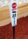 Solar Lighted Security Sign - Bright Video Surveillance Yard Sign To Prevent Theft and Trespassing
