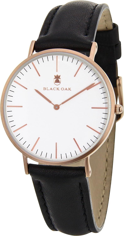 BLACK OAK Reloj con Movimiento Cuarzo japonés Man BX5790R-137 40 mm