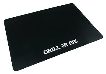 Funda para barbacoa Weber de 57 cm, color negro mate con texto impreso Grill or