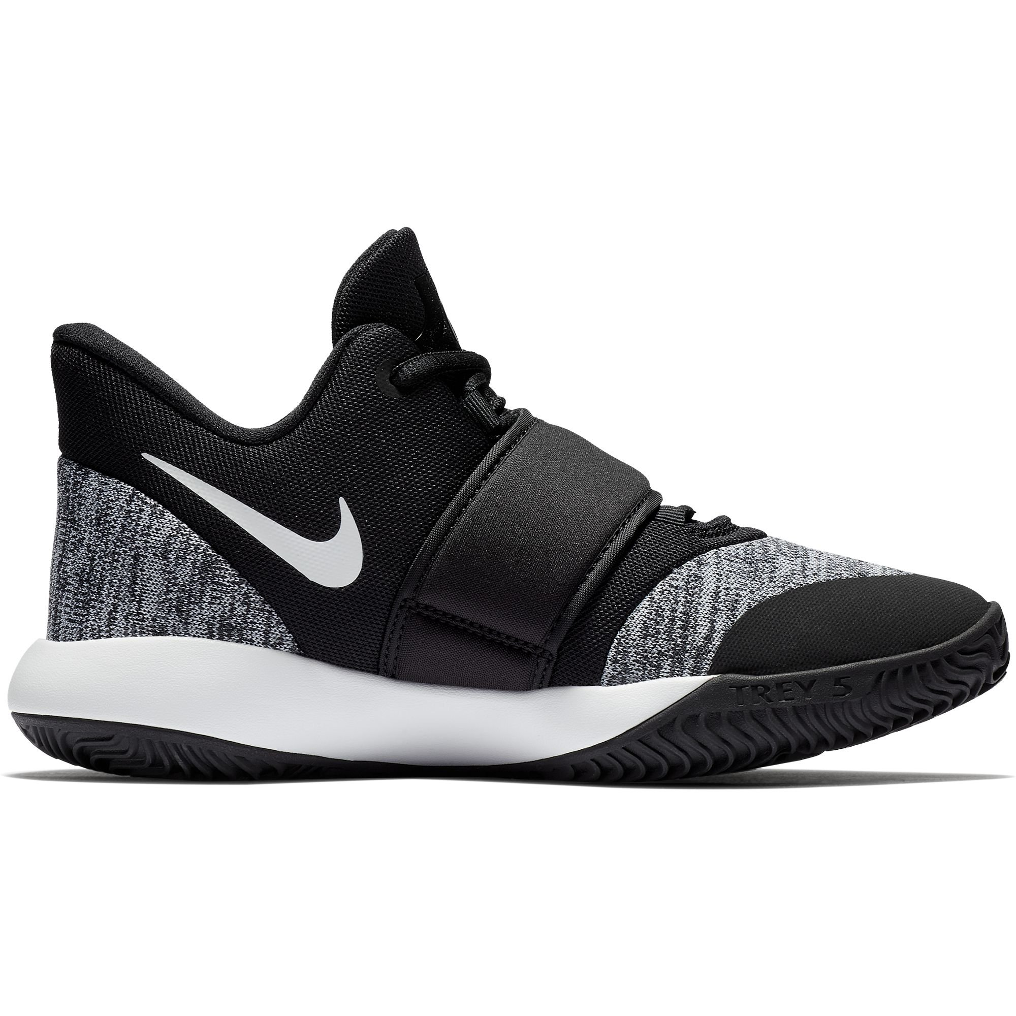 Nike Boy's KD Trey 5 VI Basketball Shoe Black/White Size 7 M US