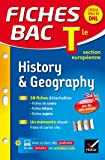 Fiches bac History & Geography Tle section européenne: fiches de révision - Terminale section européenne