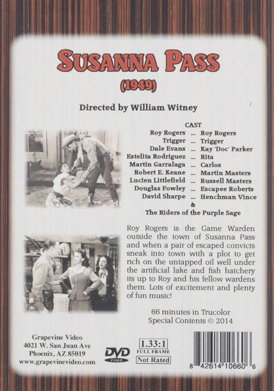 Amazon com: Susanna Pass (1949): Roy Rogers, William Witney