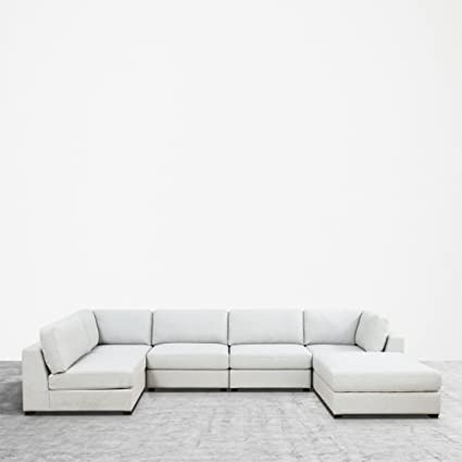 Attractive UrbanFurnishing.net REED 6 Piece Modular Customizable And Reconfigurable Deep  Seating Sofa Sectional