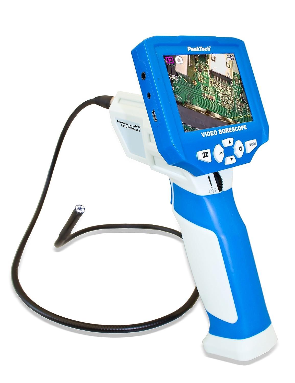 P 5600 C/ámara de 8/mm de di/ámetro y USB//tarjeta SD Peak Tech C/ámara endosc/ópica con extra/íble de 3,5/color de v/ídeo TFT pantalla 1/pieza