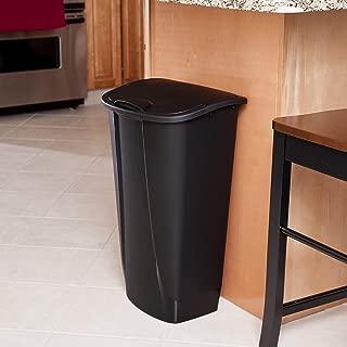 product image for Sterilite 10939006 11 Gallon/42 Liter SwingTop Wastebasket, Black, 6-Pack