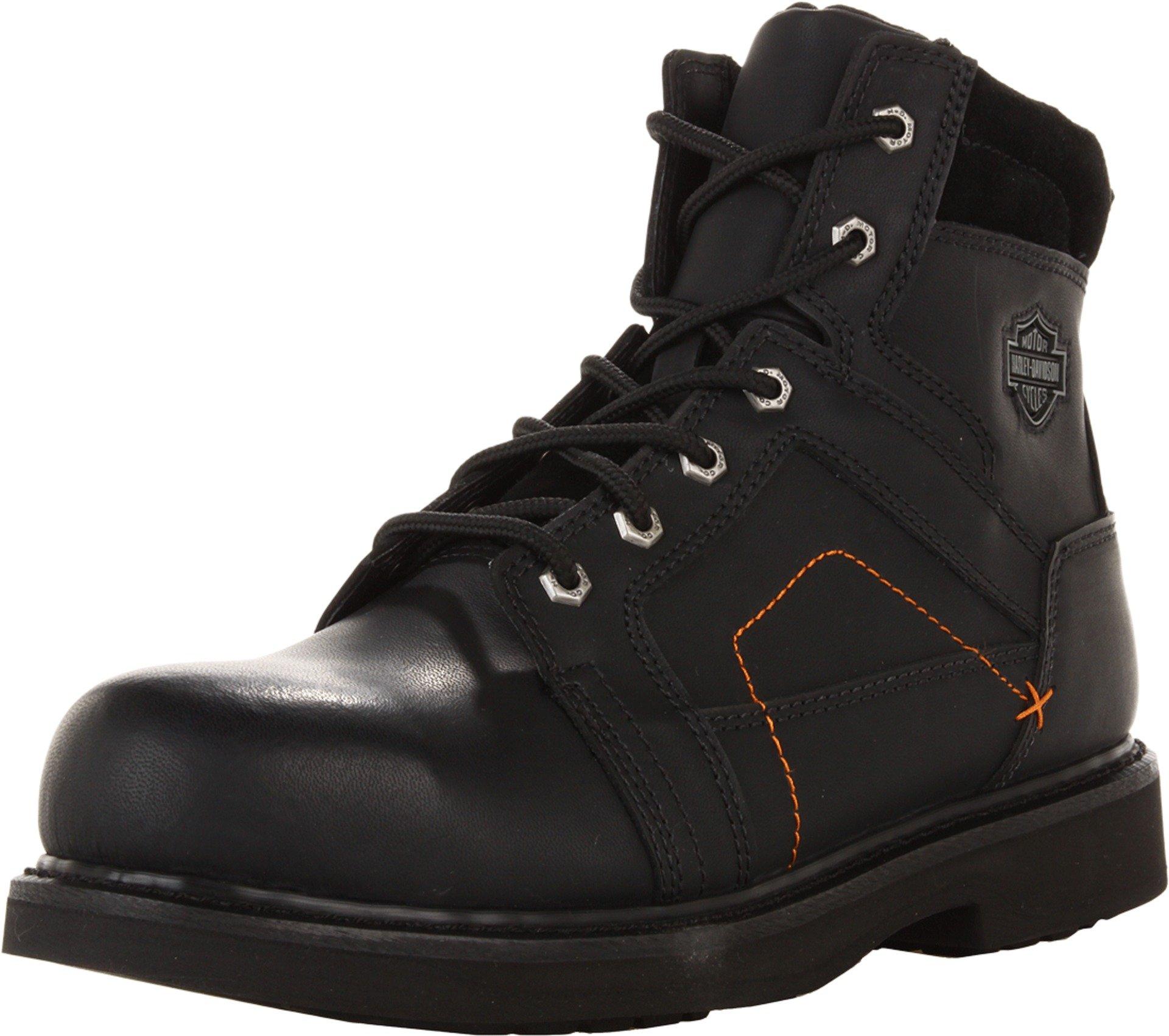 Harley-Davidson Men's Pete Steel Toe Motorcycle Safety Boot, Black, 9.5 M US by Harley-Davidson