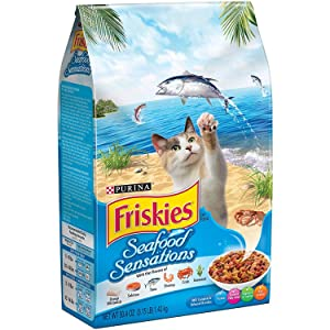 Friskies Seafood Sensations Cat Food Dry (Formerly Ocean Fish Flavor) (3.15-lb Bag)