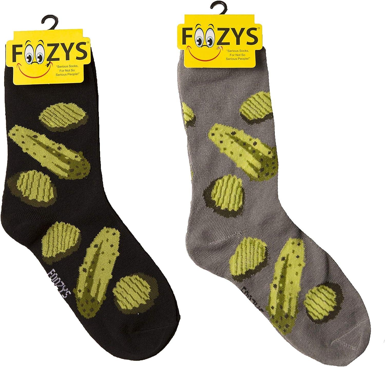 Foozys Women's Crew Socks | Cute Fun Food & Drink Novelty Socks | 2 Pairs