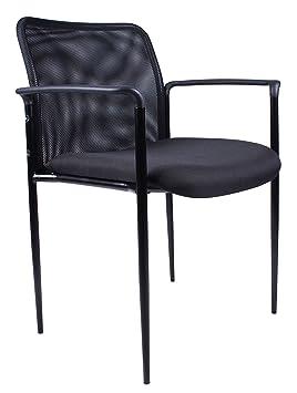 BOSS sillas de oficina de malla silla de invitados en negro ...
