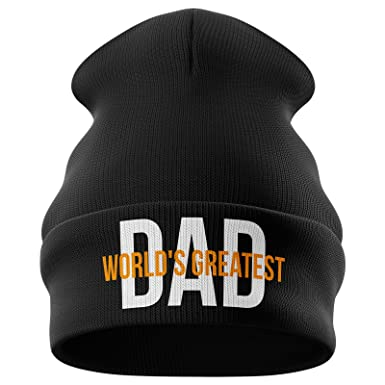 Gifts for Men - Worlds Best Dad Funny Beanie Hat Novelty Gifts for Men  (Black)  Amazon.co.uk  Clothing 159d49372ac