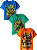 Nickelodeon Teenage Mutant Ninja Turtles Boys' 3 Pack T-Shirt