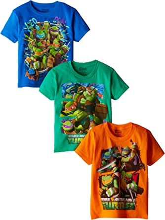 Nickelodeon Teenage Mutant Ninja Turtles Boys' 3 Pack T-Shirt