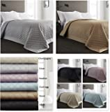Stone Quilted Reversible Bedspread/Comforter/Throw