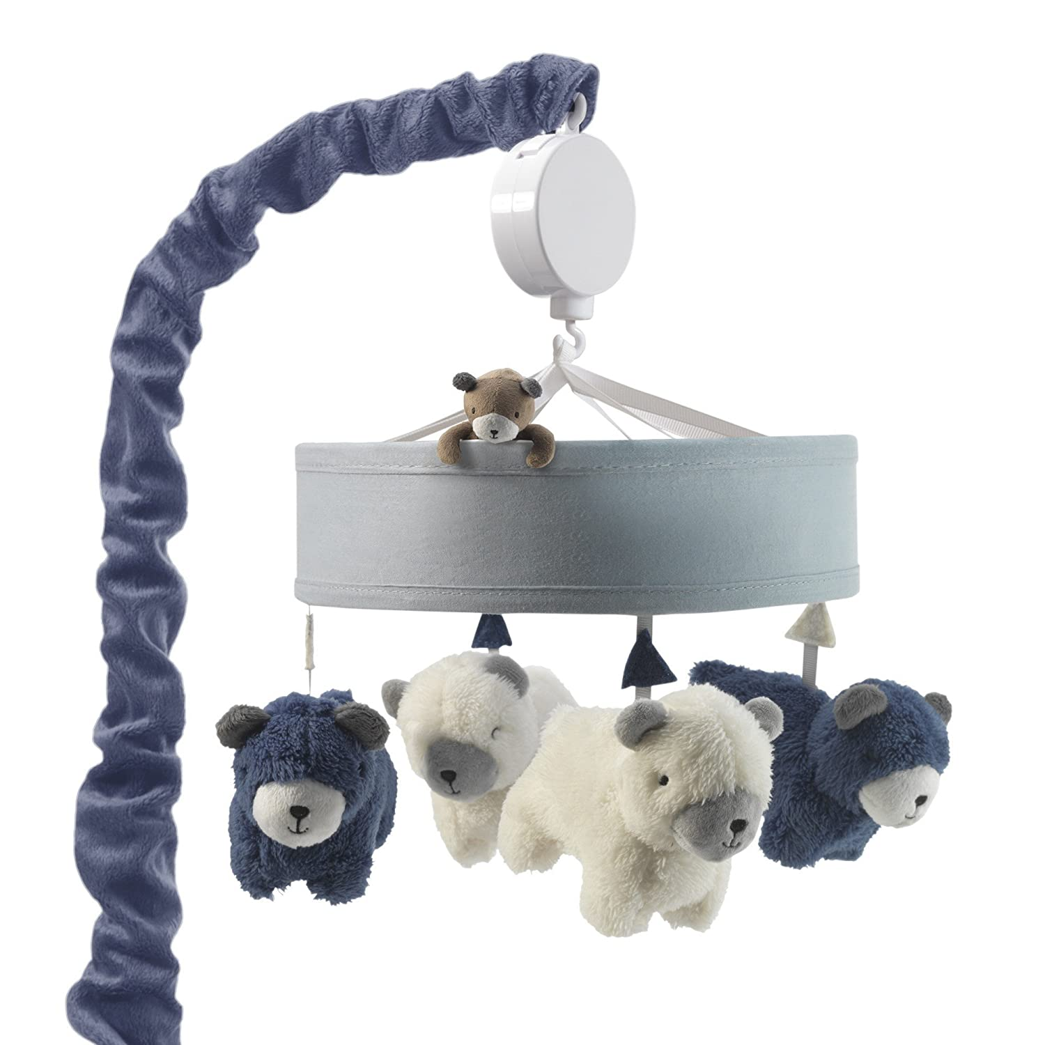 Lambs & Ivy Signature Montana Musical Mobile - Blue/White Bears