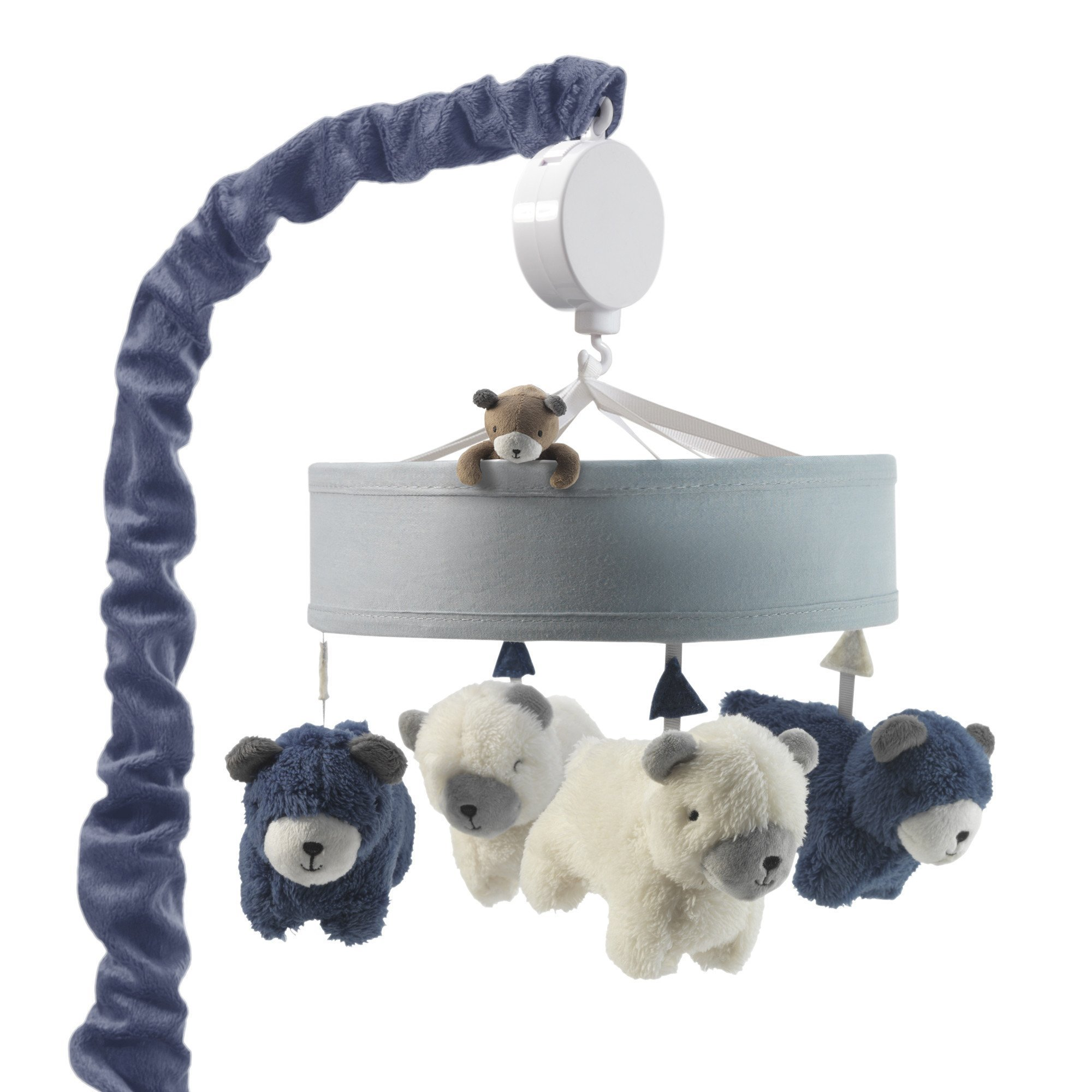 Lambs & Ivy Signature Montana Musical Mobile - Blue/White Bears