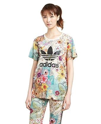 48eb52381cc adidas BF Trefoil Womens Tee Multicolor, Multicolored, 16: adidas Originals:  Amazon.co.uk: Clothing