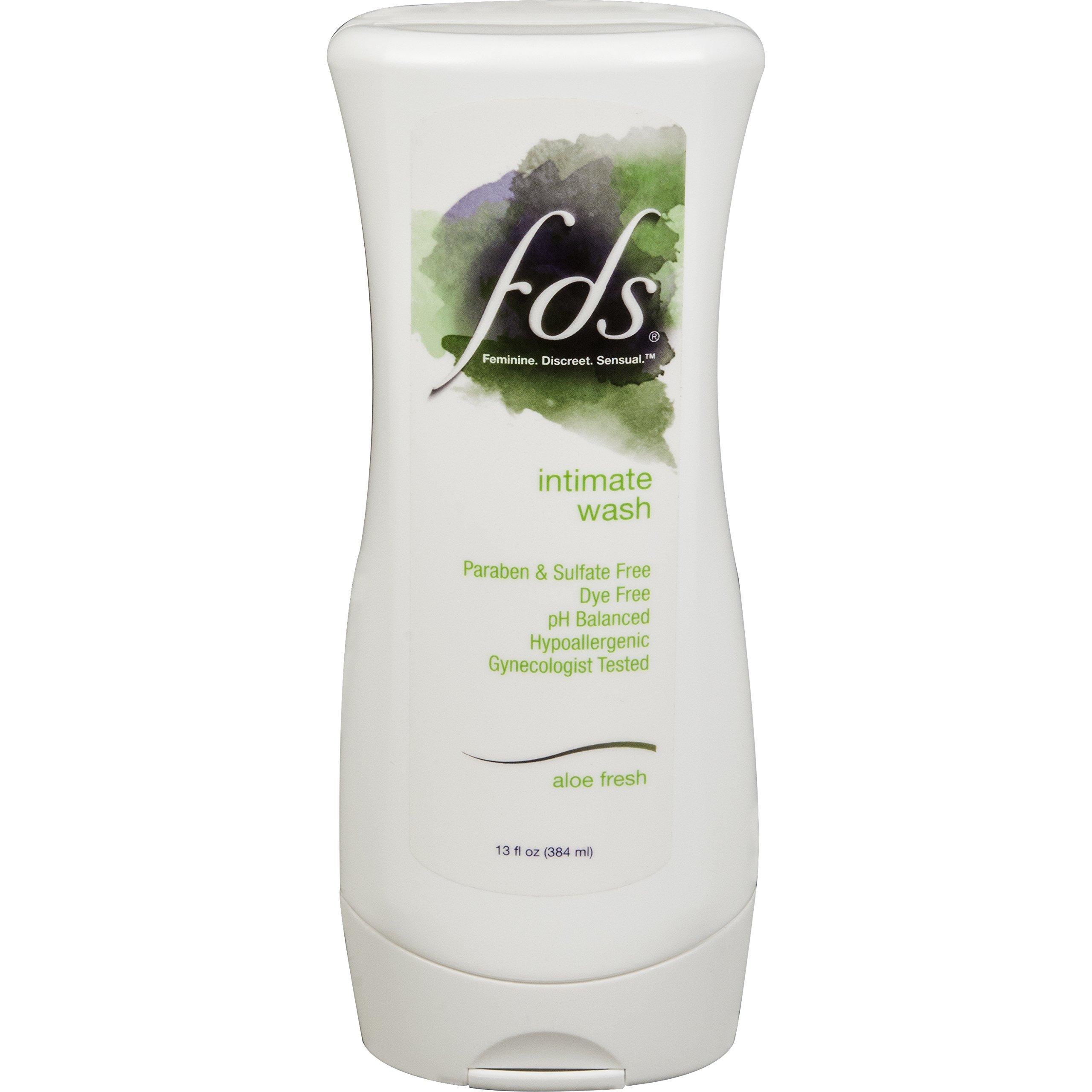 FDS Feminine Hygiene Wash, Aloe Fresh, 13 Ounce Bottle Hypoallergenic pH  Balanced Cleansing Vaginal