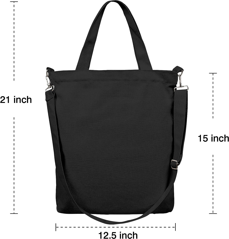 XZWEI Womens Canvas Shoulder Tote Handbags Comfort Hand Grocery Bag Purses