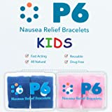 P6 Health Anti-Nausea Relief, Natural Childrens Wrist Bands for Kids to Aid Travel Motion Car Sea Sickness in Assorted Colors