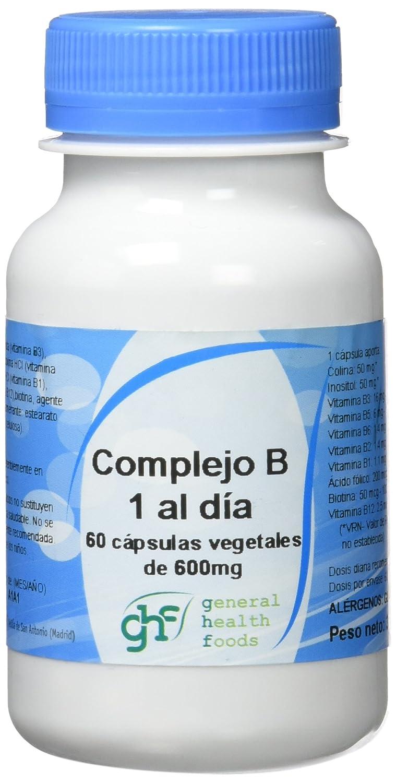 GHF - GHF Complejo B 60 cápsulas vegetales 600mg: Amazon.es: Salud y cuidado personal