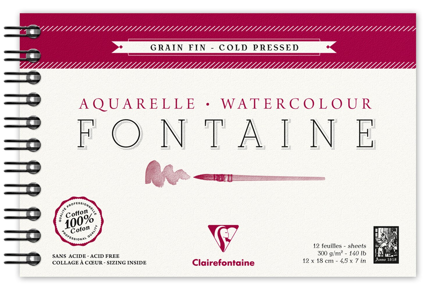 Clairefontaine 96312C Album a Spirale, 12 x 18 cm, 12 Fogli, Bianco C Rhodia Jardinage
