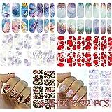 Arte de uñas: 6 sheets 72 pcs pegatina de Transferible con Agua Nail Sticker set #273 Pegatina Tatuaje para Uñas Nail Sticker - FashionLife