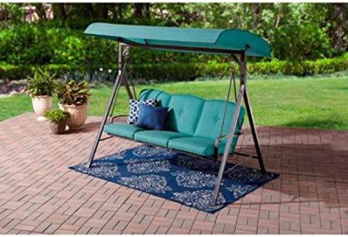 Mainstays Forest Hills 3-Seat Cushion Swing Teal