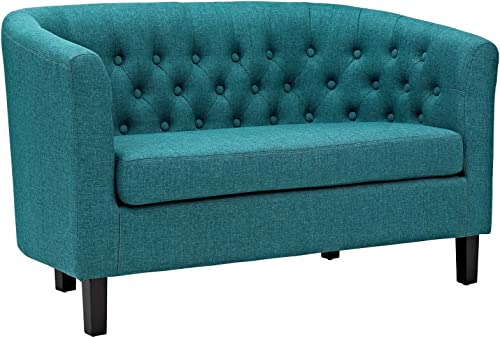 Modway Prospect Upholstered Contemporary Modern Loveseat In Teal