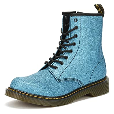 9c893ab797 Dr. Martens Youth Laser Lake Blue Delaney Glitter Boots: Amazon.co ...