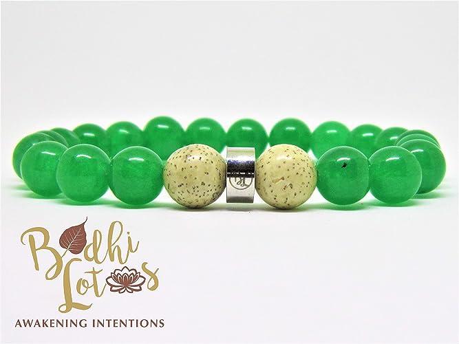 Amazon.com: Genuine Green Jade Bracelet Heart Chakra ...