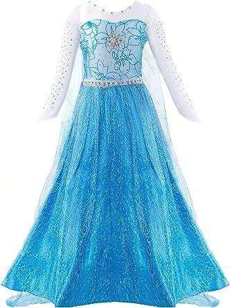 Kids Girls Green Frozen Queen Anna Princess Dress Costume Party Play Halloween