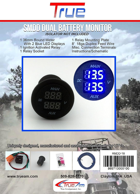Amazon Com True Smdd Dual Battery Monitor Automotive
