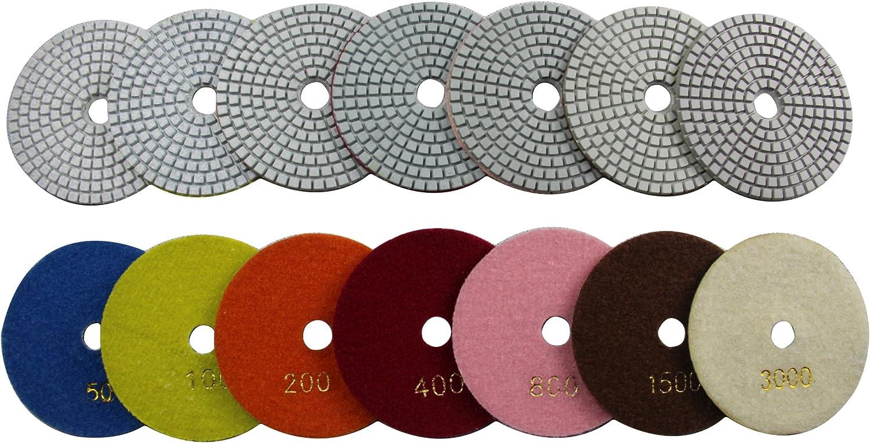 Konfor Wet 6 7-Step Diamond Polishing Pads Flexible Sanding Tools Discs Buff