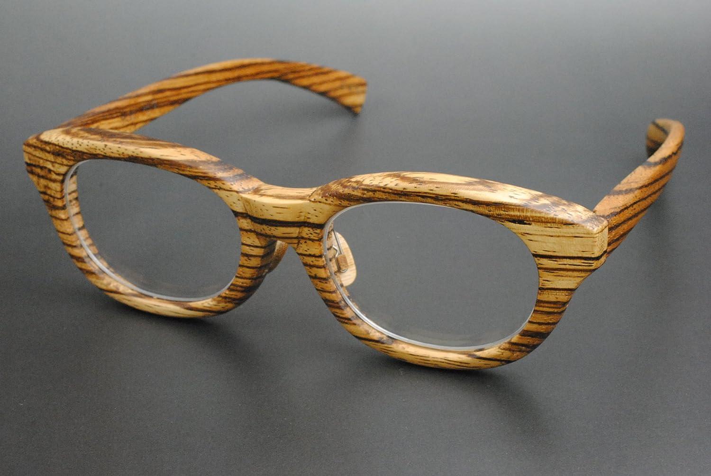 木製めがねフレーム ZE-908F(DOKUSOU TIKUHOU)【ルーツ】【鯖江産】【木のめがね】【Wooden】【】【銘木】【日本製】   B018E0SDCE