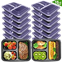 Deals on 16-Pack VANCOOL Meal Prep Containers 3 Compartment