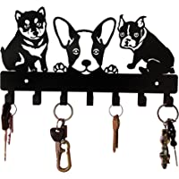 HeavenlyKraft Puppies Metal Key Holder(Black)