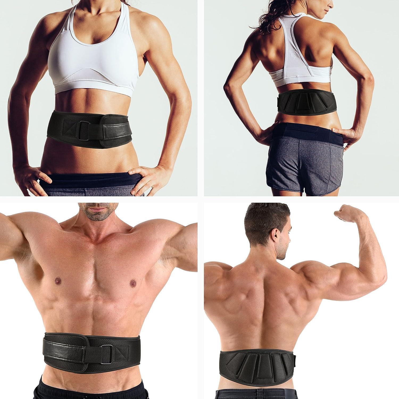FITVILLAIN Cinturón de Neopreno para Halterofilia - Gimnasio, Crossfit, Powerlifting, Peso Muerto, Culturismo, Fitness, Musculación Entrenamiento Protección ...