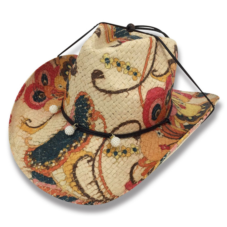 AccessHeadwear Old Stone Paisley Women's Cowboy Drifter Style Hat