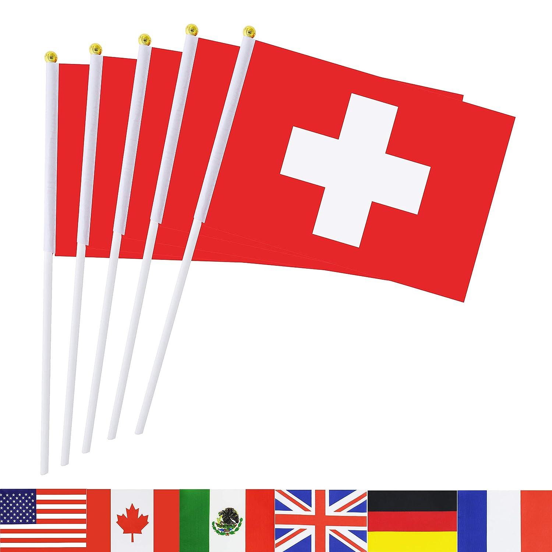 12x European Union Hand Table or Waving Flag EU Party Pack