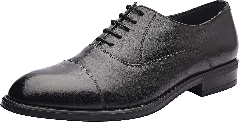 Allonsi | Genuine Leather Dress Shoes | Mens Wingtip Oxford Shoes | Leather Dress Shoes für Arbeit | Handcrafted Detailing | Lightweight Sole | Quality Craftsmanship | Everyday Comfort