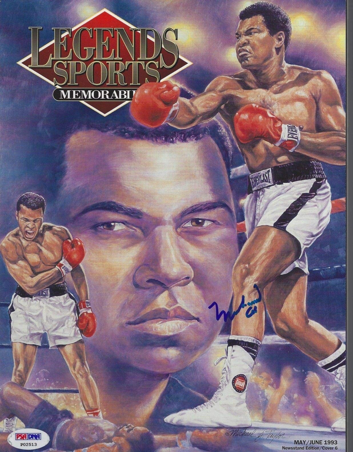 MUHAMMAD ALI Signed 1993 LEGENDS Magazine with COA (NO Label) PSA/DNA Certified Autographed Boxing Magazines