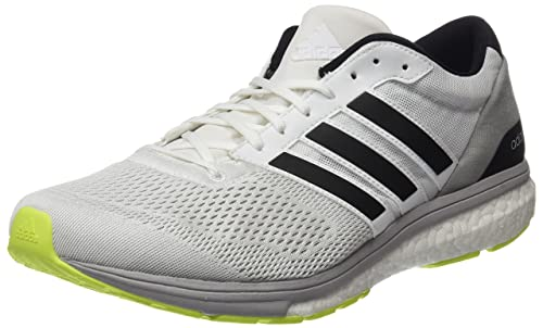 adidas Adizero Boston 6, Scarpe Running Uomo, Bianco (Footwear White/Silver Metallic