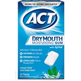 ACT Dry Mouth Moisturizing Gum with Xylitol, Sugar-Free Soothing Mint, 20 Pieces Sugar-Free Dry Mouth Gum (Packaging may…