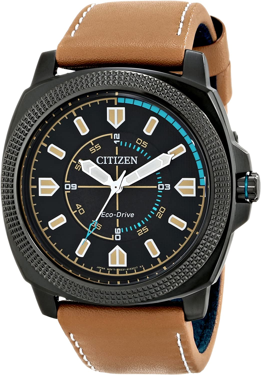 Citizen Men s BJ6475-00E Drive from Citizen Stainless Steel Watch with Beige Leather Band