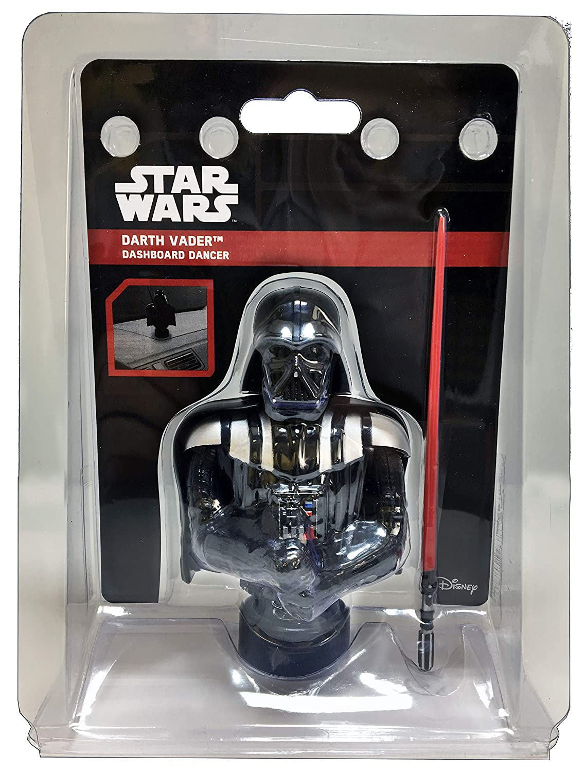 CHROMA 48028 Black Darth Vader Dashboard Auto Ornament