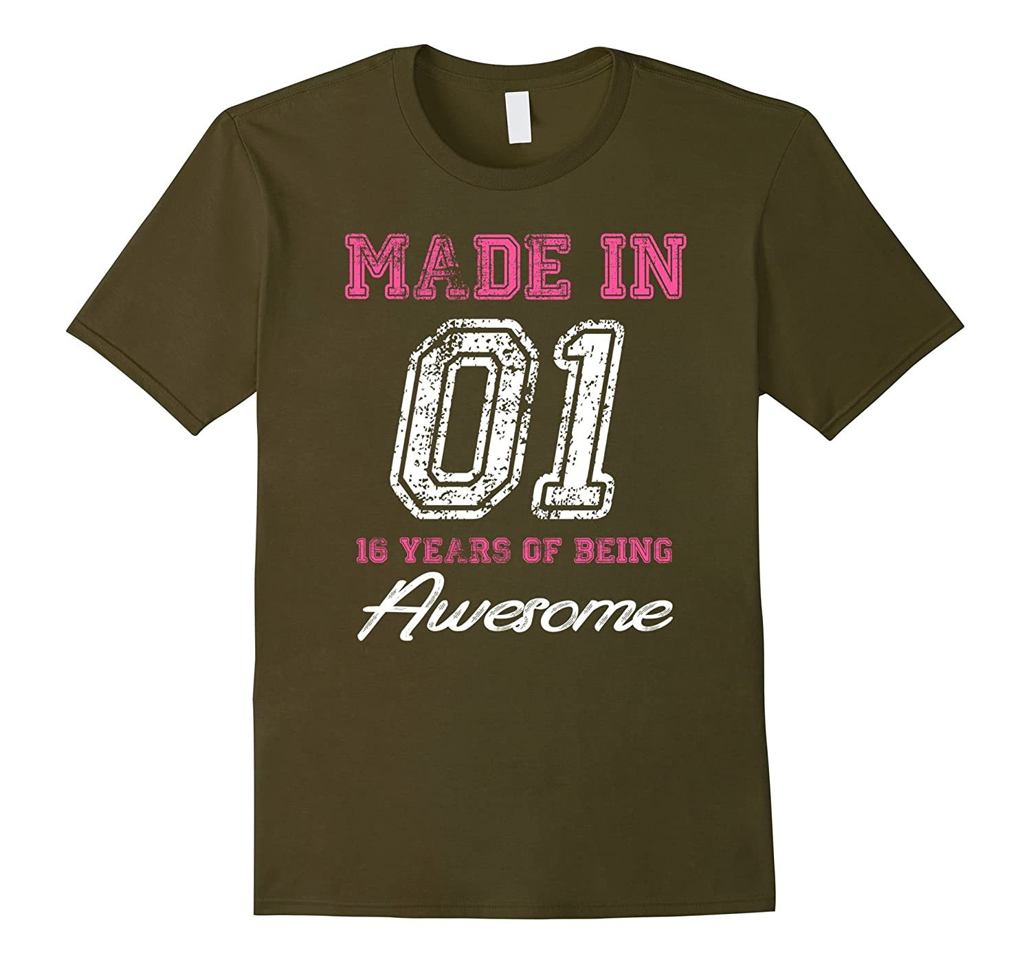 16th Birthday Gift T-Shirt Made In 01 cute 16 years old gift-PL